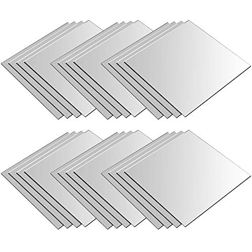 24 Stück Spiegelfliesen je 30x30cm Spiegelkachel Fliesenspiegel Spiegel Wanddekoration Wandspiegel Klebespiegel