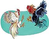 Hanzeze DIY Pintura por números pelea de gallos Pintura por Números para Adultos y Niños, Dibujos para Pintar con Números, DIY Pintura al Óleo por Números Decoración del Hogar, Sin Marco, 40 x 50 cm