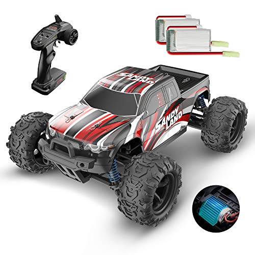 DEERC RC Cars 9300 High Speed Remote Control Car for Kids Adults 1:18 Scale 30+ MPH 4WD Off Road Monster Trucks,2.4GHz All Terrain Toy Trucks with 2 Rechargeable Battery,40+ Min Play Gift for Boy Girl