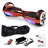 Smartway Balance Scooter 6, 5 Zoll 600W-Motion V.5 mit App Funktion, Bluetooth Lautsprecher, Kinder Sicherheitsmodus, Elektro Self Board Balance E-Scooter, 600 Watt Hover Wheel (PinkChrome)
