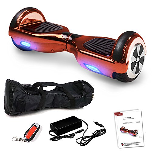 Smartway Balance Scooter 6, 5 Zoll 600W-Motion V.5 mit App Funktion, Bluetooth Lautsprecher, Kinder Sicherheitsmodus, Elektro Self Board Balance E-Scooter, 600 Watt Hover Wheel (PinkChrome)