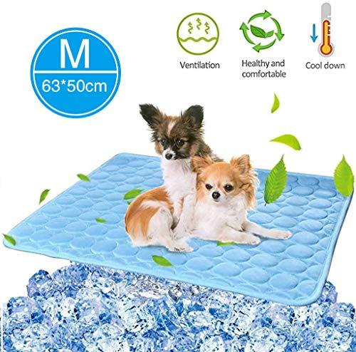 ZQTRT Kühlmatte für Hunde, ungiftiges Gel, selbstkühlend, kein Wasser oder Kühlschrank erforderlich, Kratzfest/wasserdicht/rutschfeste Kühlmatte für kleine/mittelgroße Hunde oder Katzen