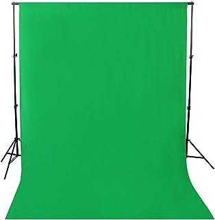 撮影背景布 ビデオスタジオ用ファブリック背景布 3m x 6m 単色 グリーン 無反射 背景シーン 写真撮影 写真スタジオ 全身撮影用 背景布 洗濯可能 繰り返し