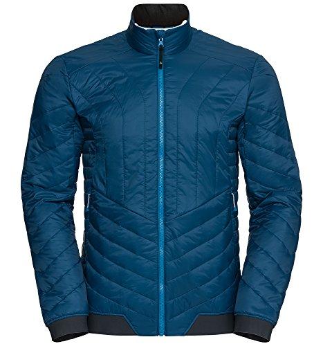 Odlo Herren Cocoon S Zip In Jacket Sportjacke, Mehrfarbig (Blue Opal 20333), XX-Large
