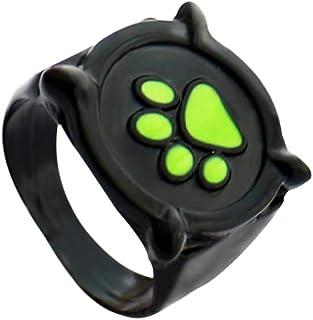HANRESHE Cat Noir Ring for Kids Size 5-7 Cat Noir Ring Anime Jewelry Black Ring Cat Noir Costume for Kids Ladybug Costume ...