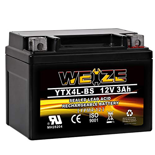 Weize YTX4L BS Motorcycle Battery ETX4L-BS High...