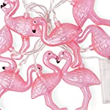 Out of the blue Lichterkette Flamingo, Plastik, rosa, 13 x 12 x 13 cm
