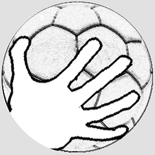 Tortenaufleger Tortenfoto Aufleger Foto Bild Handball rund ca. 20 cm (2) *NEU*OVP*