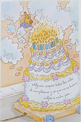 Feliz Cumpleanos / Happy Birthday in Spanish Greeting Card - Funny Humor Getting Older Aging Age