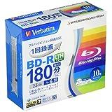 Verbatim バーベイタム 1回録画用 ブルーレイディスク BD-R LTH 25GB 10枚 ホワイトプリンタブル 片面1層 1-4倍速 VLR130YP10V1