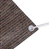 95% Braunes Sonnenschutznetz-Abdecktuch Mit ÖSen, Sonnenschutz-Sichtschutz FüR Terrassenmarkisen-Fenster-Pergola Oder Pavillon-Abdeckung (GrößE: 3Mx5M)