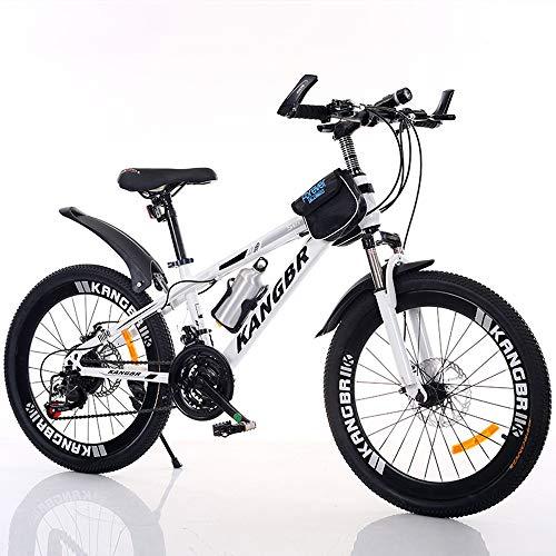 Nerioya Erwachsenen-Mountainbike, 21-Gang-Schaltung/Stoßdämpfung/Fahrrad Mit Scheibenbremsen, Rahmen Aus Hohem Kohlenstoffstahl Mit Wasserkocher + Tasche,B,20in