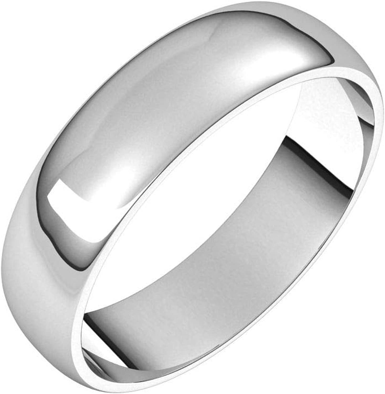 Diamond2Deal Sterling Silver 5 mm San Jose Mall Light Half Round Wedding Selling rankings Band