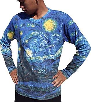 RaanPahMuang Van Gogh The Starry Night Long Sleeve Mens Shirt X-Large