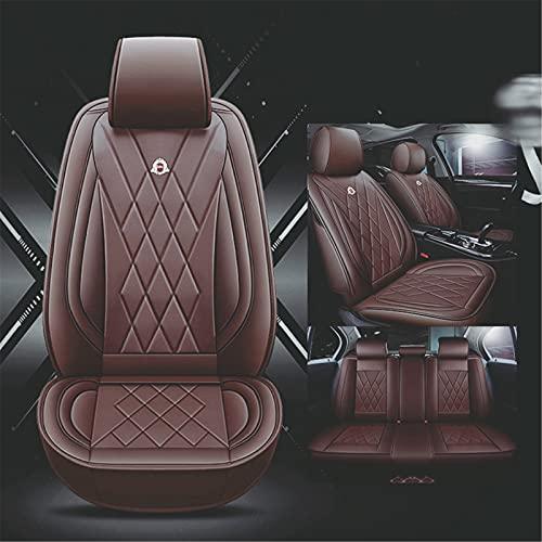 Upupto Cubierta Universal del Asiento del automóvil Accesorios para el Interior automóviles Cubierta del Asiento del automóvil Estilo Conjunto Completo Patrón de neumático 3D,Marrón