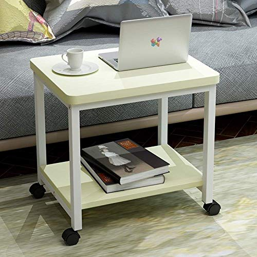 Side Table with Wheels Sofa Table Wood-Based Panel Material Makes This Table Durable and Long Lasting Best for Small Space