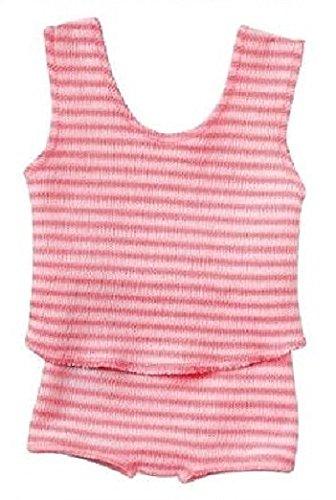 Schwenk Puppenkleidung, rosa-weiß gestreifte Unterwäsche für 30 cm - 33 cm Puppen