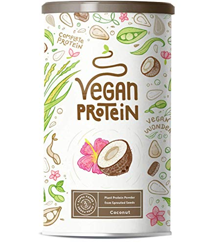 Vegan Protein | Coconut | Plant Protein from Soy, Sprouted Rice, Peas, Flax Seed, Amaranth, Sunflower Seed, Pumpkin Seed | 600g Powder with Natural Coconut Flavour