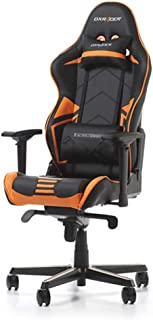 DXRacer USA Racing Series RV131 Gaming Chair Computer Chair Office Chair Ergonomic Design Swivel Tilt Recline Adjustable with Angle Lock, Includes Headrest Pillow and Lumbar Cushion (Orange)