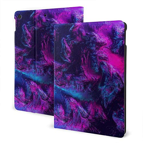 ZSMJ Ipad case Brilliant Blue and Purple Slim Lightweight Smart Shell Stand Cover Case forair 1/2 (9.7inch)