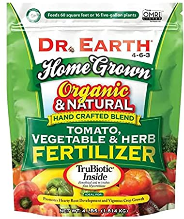 Dr Earth Organic 5 Tomato, Vegetable & Herb Fertilizer 4-6-3