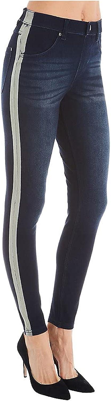 HUE Women's Tuxedo Ultra Soft Denim High Waist Leggings 21372