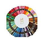 Proumhang Proumhang Kit de bordado 100 hilos de colores Herramientas de costura Accesorios de punto de cruz Incluye una bolsa de accesorios+un paquete de agujas