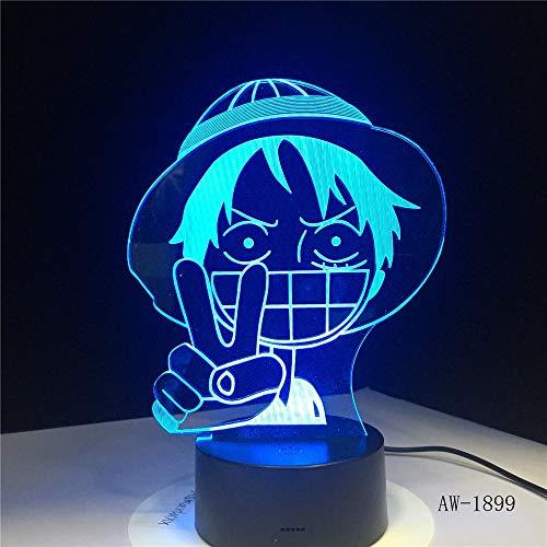 Anime Ruffy Stil Nachtlicht, eine Tischlampe Farbwechsel Hauptdekoration Lampen