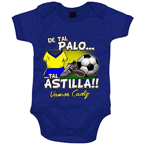 Body bebé de tal palo tal astilla de Cádiz para aficionado al fútbol - Azul, Talla única 12 meses