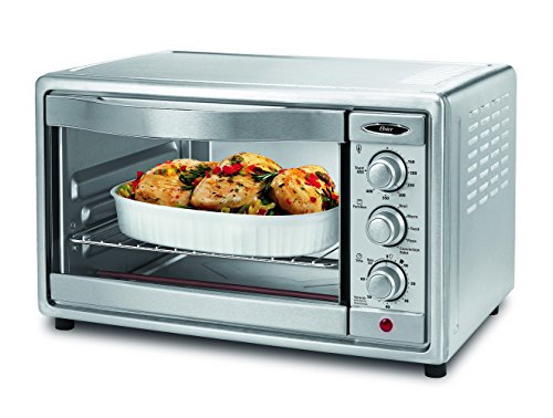Oster Convection Toaster Oven, 6 Slice, Brushed Stainless Steel (TSSTTVRB04)