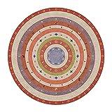 alfombra redonda Alfombras de estilo étnico Alfombras redondas para sala de estar Sofá de dormitorio Mesa de centro, 2.6 pies 3,3 pies 3,9 pies de 4.6 pies 5.2 FT 5.9 FT 6.5 FT Mats de silla de comput
