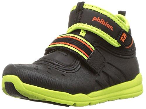 Stride Rite Baby-Boy's Made2Play Phibian Mid Water Shoe, Black/Citron, 5 M US Toddler
