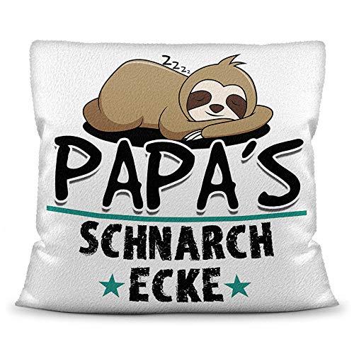 Cojín Print Royal con relleno con texto en alemán para papá – Papas Schnarch esquina – mejor regalo para el día del padre/idea de regalo día del padre cumpleaños/para padres