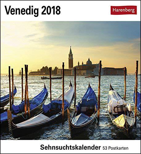 Sehnsuchtskalender Venedig - Kalender 2018 - Harenberg-Verlag - Postkartenkalender mit 53 heraustrennbaren Postkarten - 16 cm x 17,5 cm