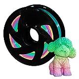 Bobina de filamento para impresora 3D, filamento PLA multicolor, 1,75 mm, 1 kg (2,2 libras) para impresión 3D, precisión dimensional +/-0,02 mm, paquete de 1 unidad XVICO
