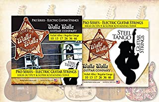 (3 Packs) Walla Walla Guitar Company Steel Tango Strings .010 Regular Gauge