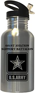 601st Aviation Support Battalion - US Army Stainless Steel Water Bottle Straw Top, 1027