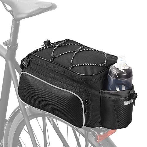 VERTAST Fahrrad Gepäckträger Tasche Wasserdicht Multifunktionale Packtasche für Fahrrad Sitz Outdoor Fahrrad Korb Schulter Handtasche 12L Schwarz4