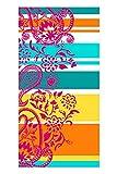 jilda-tex Strandtuch 90x180 cm Badetuch Strandlaken Handtuch 100% Bio-Baumwolle Velours Frottier Pflegeleicht Verschiedene Designs (Summer Paisley)