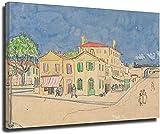 Dvbhd Laminas para Cuadros Vincent's House in Arles de Vincent Van Gogh Arte de Pared Decoracion Mod...