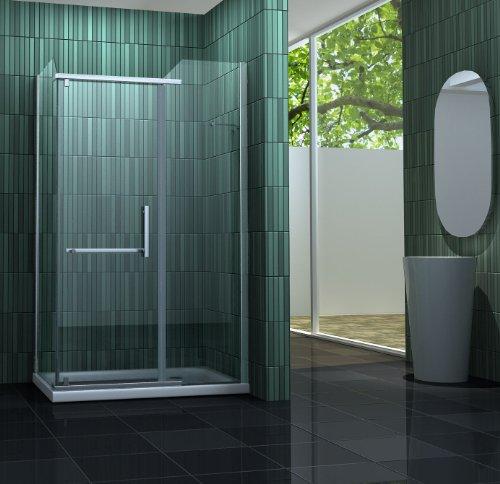 Duschkabine ENCO 120 x 80 x 200 cm inkl. Duschtasse
