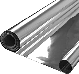 Lepilion Highly Reflective Silver Mylar Film Roll 4 FT x 100 FT 2 Mil (2 Pack) Total 800 Square Feet for Garden Greenhouse Grow Room Tent Covering Foil Sheets Maximizes Light Energy & Heat Retention
