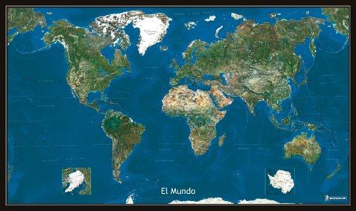 Mapa Plastificado Planisferio Foto Satélite Mapas