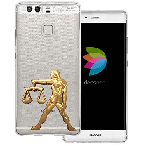 dessana sterrenbeeld goud transparante siliconen TPU beschermhoes 0,7 mm dunne mobiele telefoon soft case cover tas voor Huawei, Huawei P9, weegschaal