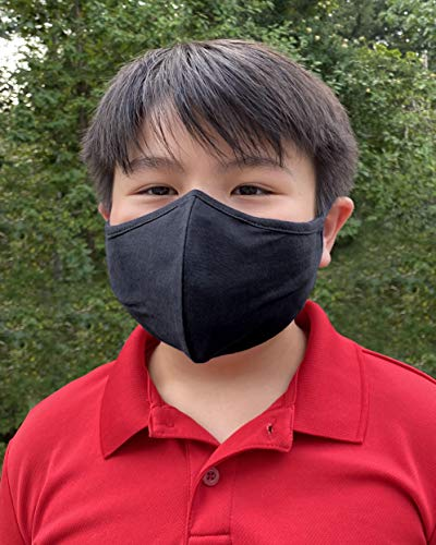 USA Safety Face Mask 3 Layers Kid and Adult Face Mask, 100% Cotton Face Cover, Prints Cloth Face Mask, Reusable & Washable - Made in USA (Kid, FM66)