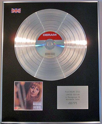 MARIANNE FAITHFULL- Édition limitée-Disque de platine CD