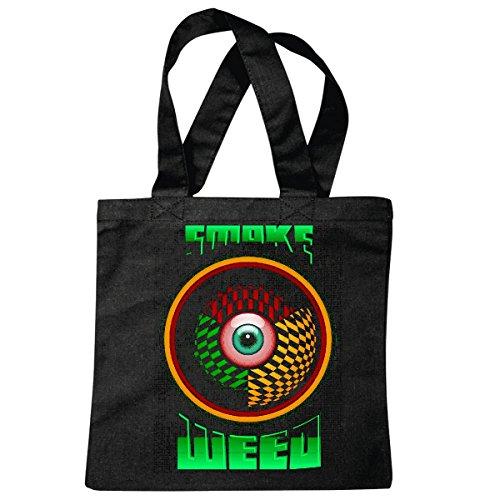 Tasche Umhängetasche Smoke Weed Gras Rauchen Brille Joint Leben GENIEßEN Weed CANNABISÖL Cannabis Weed Joint Einkaufstasche Schulbeutel Turnbeutel in Schwarz