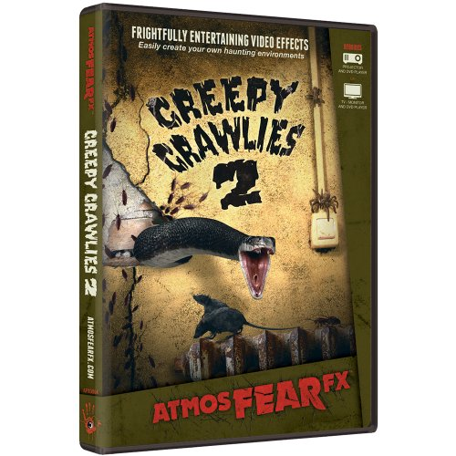 AtmosFX Creepy Crawlies 2 Digital Decorations DVD for Halloween Holiday Projection Decorating