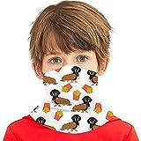PGTry - Pañuelo multiusos para niños y niñas, protección UV, para la cara, cuello, pasamontañas para el verano, ciclismo, senderismo, deportes, al aire libre, perro salchicha caliente y patatas fritas