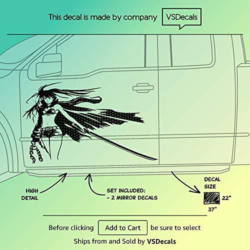 Vinyl Car Side Decal Stripe Wrap Sticker Graphics Anime Manga Girl 16